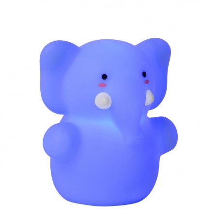 Lampe enfant LED Color Zoo - Elephant Bleu - H8,2cm - Lucide