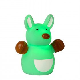 Lampe enfant LED Color Zoo - Kangourou Vert - H9,6cm - Lucide