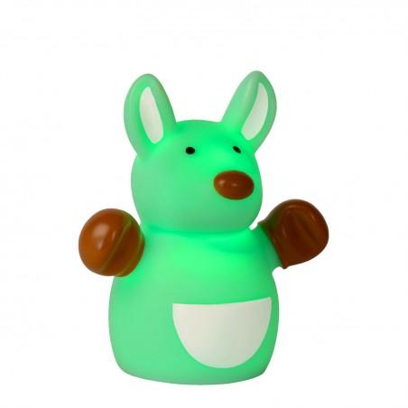 Lampe enfant LED Color Zoo - Kangourou Vert - H9,6cm - Lucide