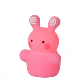 Lampe enfant LED Color Zoo - Lapin Rose - Lucide