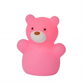 Lampe enfant LED Color Zoo - Ours Rose - H8,2cm - Lucide
