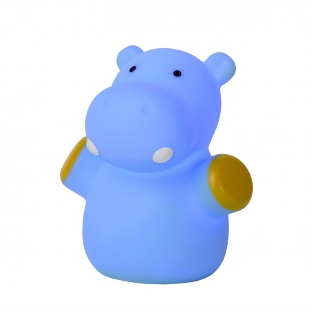 Lampe enfant LED Color Zoo - Hippo Bleu - Lucide