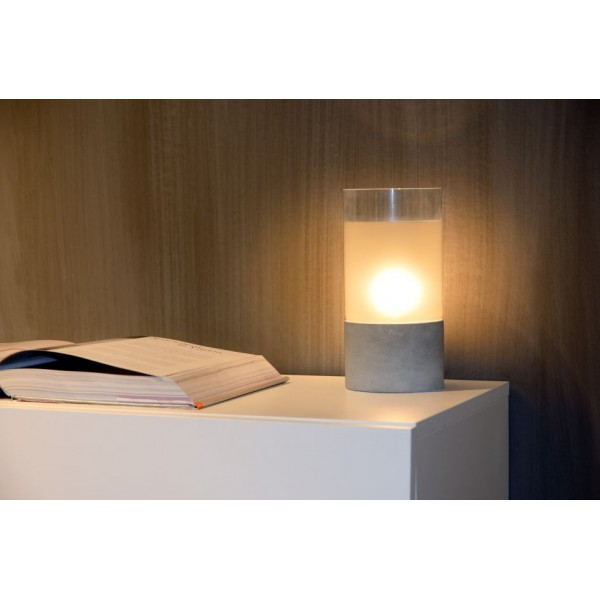 lampe design en b ton kenn lucide luminaire discount. Black Bedroom Furniture Sets. Home Design Ideas