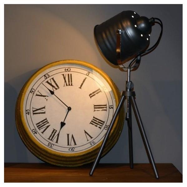 Lampe STUDIO - H62cm - metal noir - LUCIDE