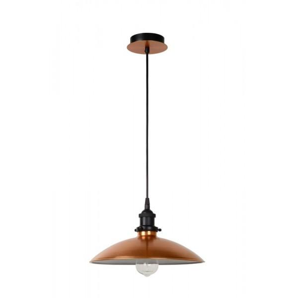 Suspension cuivre bistro d32cm luminaire discount for Suspension luminaire cuivre