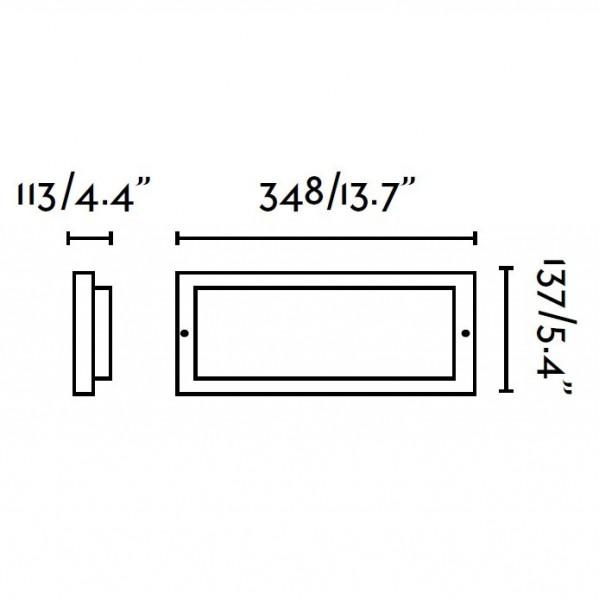 Applique exterieur MOL - L35cm - Faro