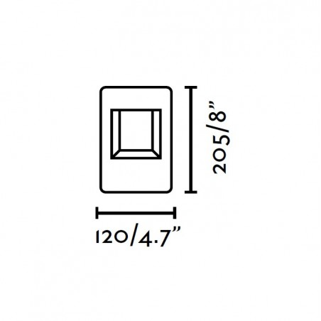Borne exterieur NAYA - LED - H20cm - Faro