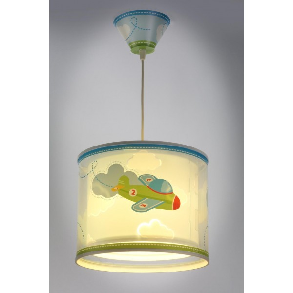 Suspension enfant BABY PLANES - Ø26cm - PVC - Dalber