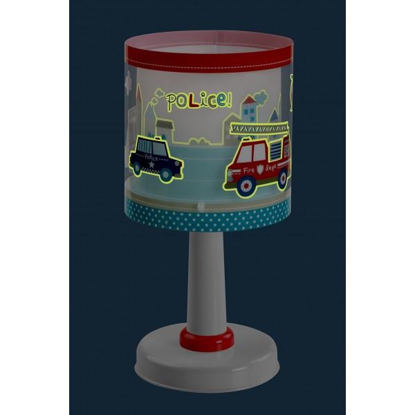 Lampe enfant POLICE - H29cm - PVC - Dalber