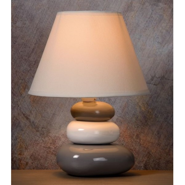 Lampe Galet Karla Gris Lucide Luminaire Discount