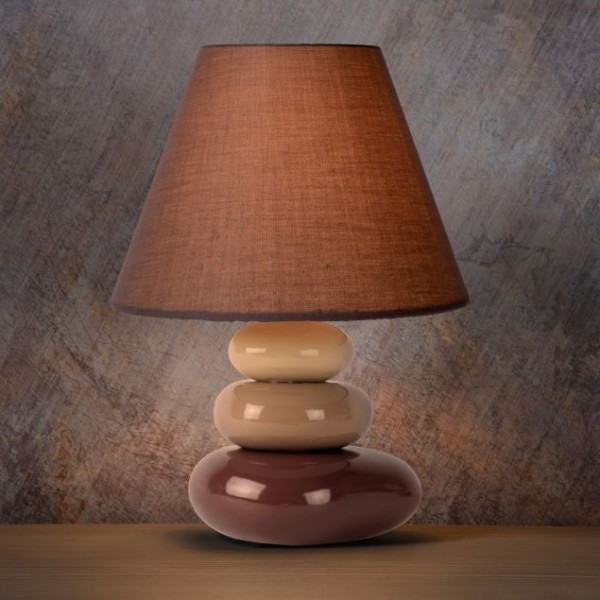 Lampe Galet Karla Taupe Lucide Luminaire Discount