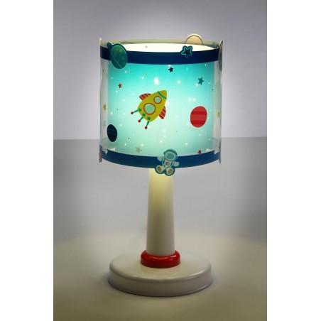 Lampe de chevet enfant PLANETS - H30cm - PVC - Dalber