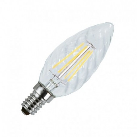 Ampoule LED E14 4W 2700°K - torsadé - clair - Vision-EL