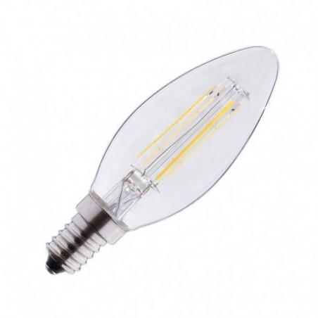 Ampoule LED E14 4W 2700°K - Flamme - Clair - Vision-EL