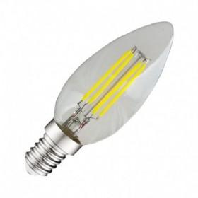 Ampoule LED E14 4W 4000°K - Flamme - Clair - Vision-EL