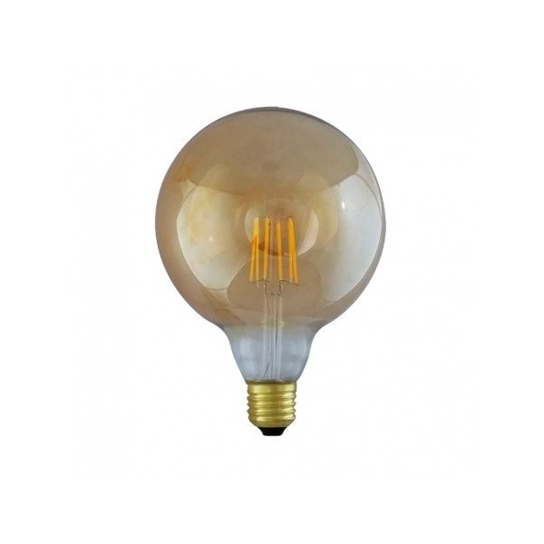 Ampoule LED E27 8W 2700°K - G125 - Golden - Dimmable - Vision-EL