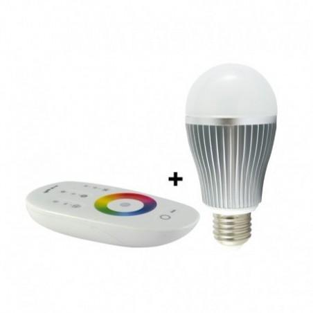 Ampoule LED E27 9W RGB + Blanc - Bulb - Vision-EL