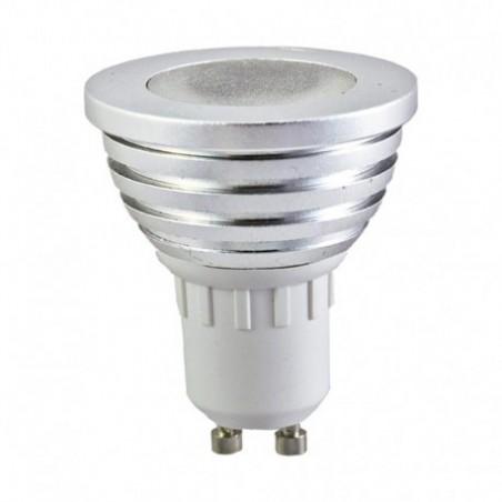 Ampoule LED GU10 3W RGB + Télécommande - Vision-EL