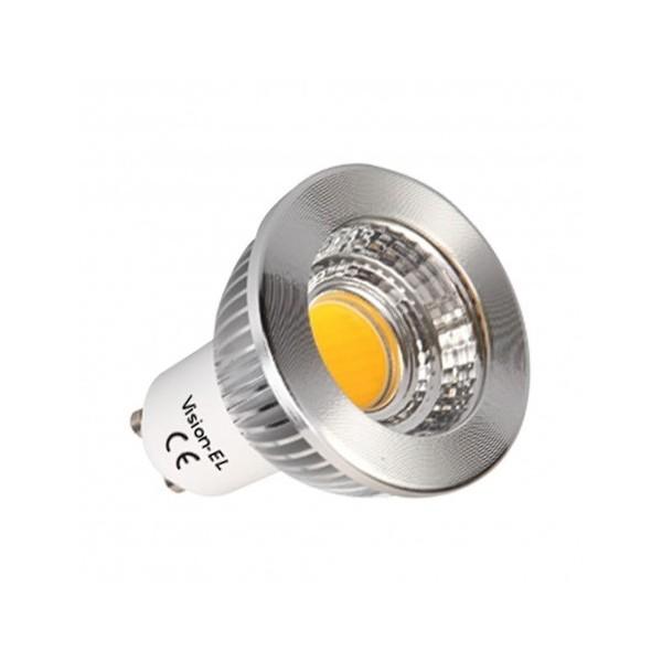 Ampoule LED GU10 5W - 3000°K - Dimmable 80° BOI - Vision-EL