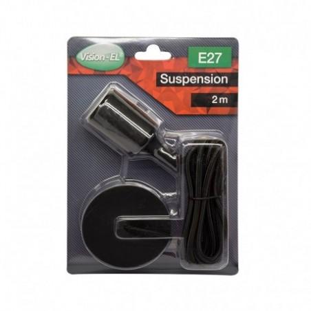 Suspension Douille Silicone E27 - Noir - Vision-EL