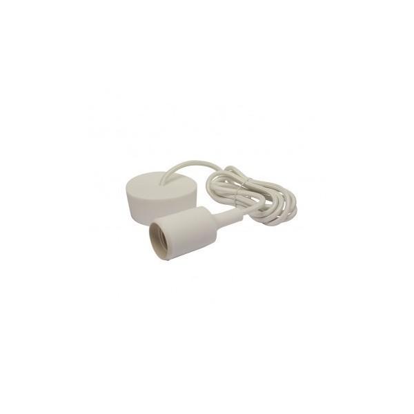 Suspension Douille Silicone E27 - Blanc - Vision-EL