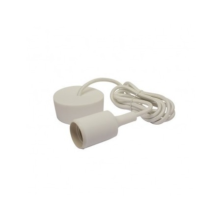 Suspension Douille Silicone E27 - Blanc - Vision-EL