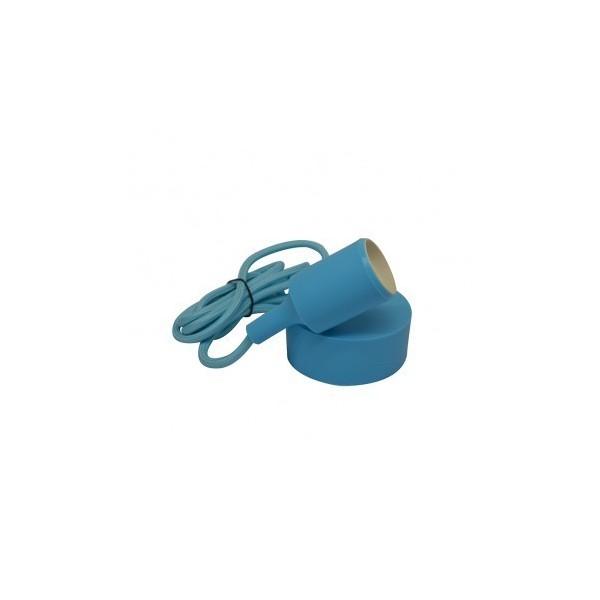 Suspension Douille Silicone E27 - Bleu - Vision-EL