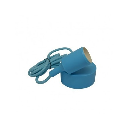 Suspension Douille Silicone E27 - Bleu - Vision-EL