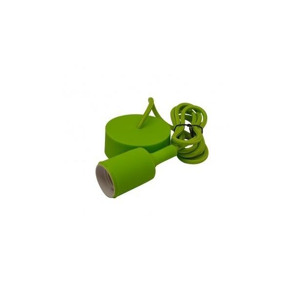 Suspension Douille Silicone E27 - Vert - Vision-EL