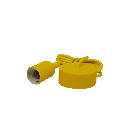 Suspension Douille Silicone E27 - Jaune - Vision-EL