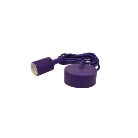 Suspension Douille Silicone E27 - Violet - Vision-EL
