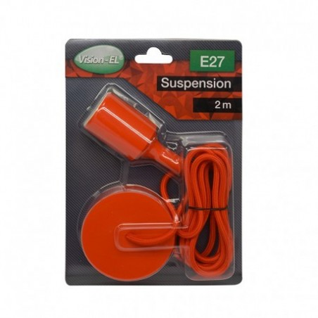 Suspension Douille Silicone E27 - Rouge - Vision-EL
