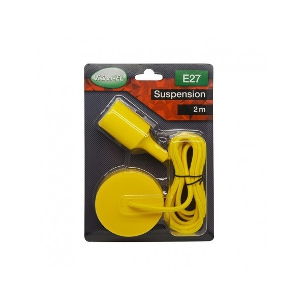 Suspension Douille Silicone E27 - Jaune - Vision-EL