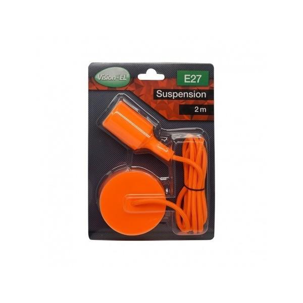 Suspension Douille Silicone E27 - Orange - Vision-EL