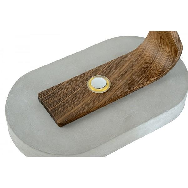 lampe bureau dani led bois fonc lucide luminaire discount. Black Bedroom Furniture Sets. Home Design Ideas