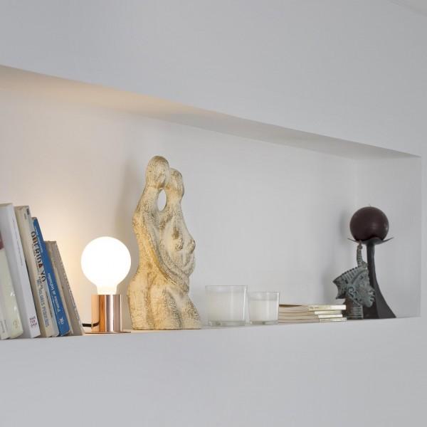 Lampe de table Ten – Cuivre – Ø9 cm – Faro
