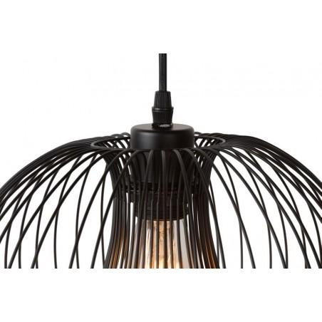Suspension VINTI - noir - Ø30cm - Lucide