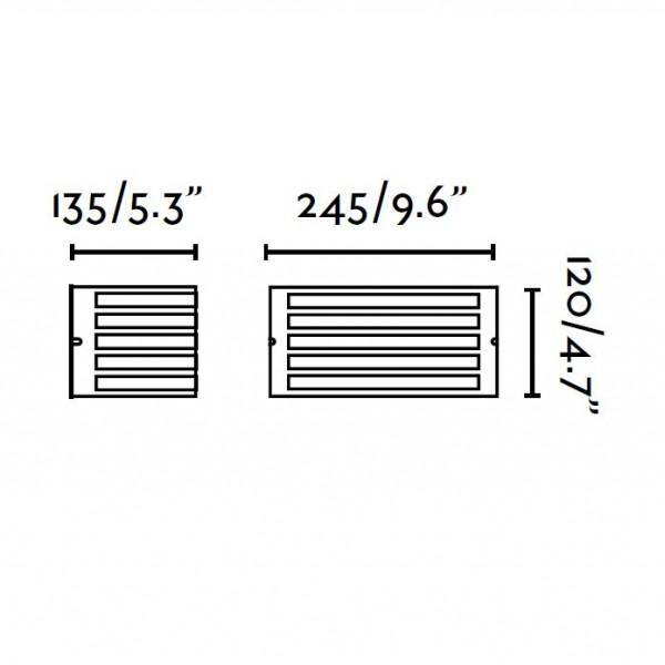 Applique exterieur FEDON - IP54 - noir ou nickel - Faro