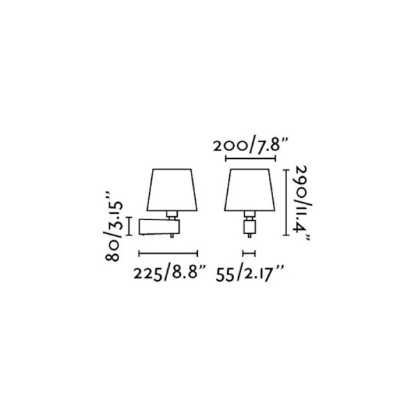 Applique Room – Blanc – H29 cm – Faro