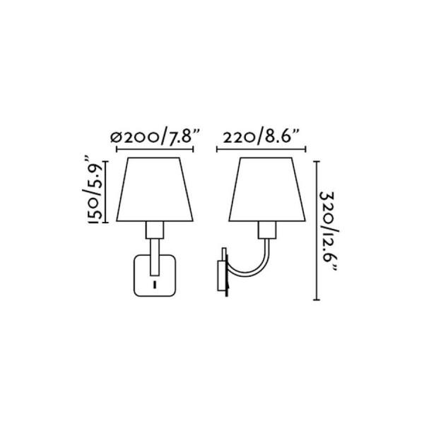 Applique ESSENTIAL - Nickel Mat - H32 cm - Faro