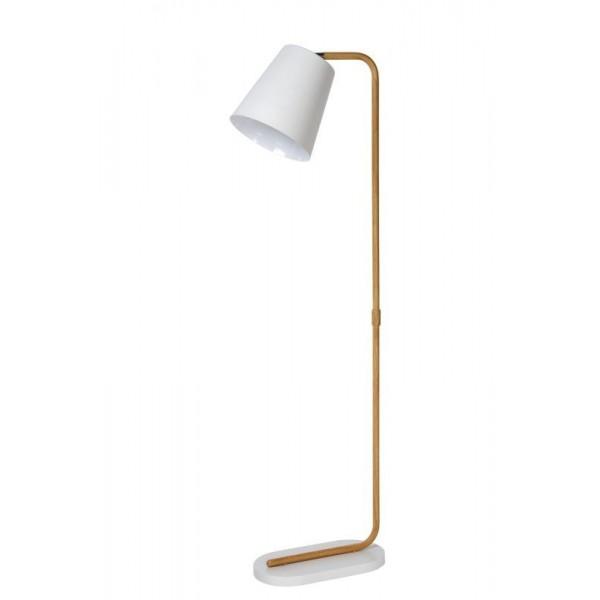 Lampadaire CONA - H140 cm - effet bois - Lucide