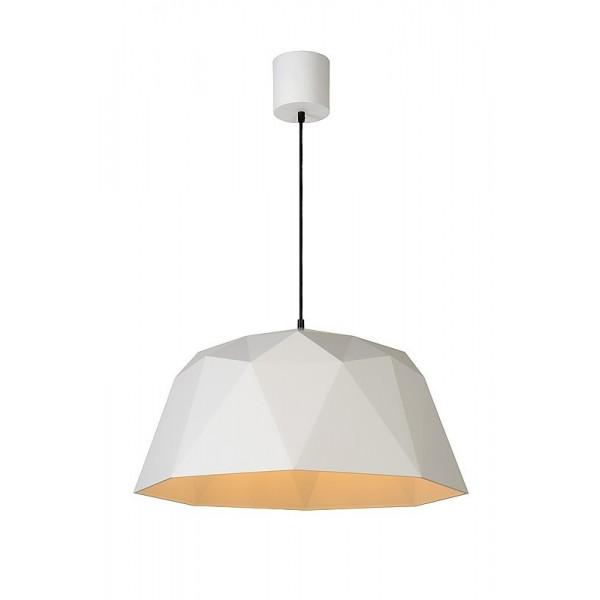 Suspension GEOMETRY – Blanc – Ø60 cm – Lucide
