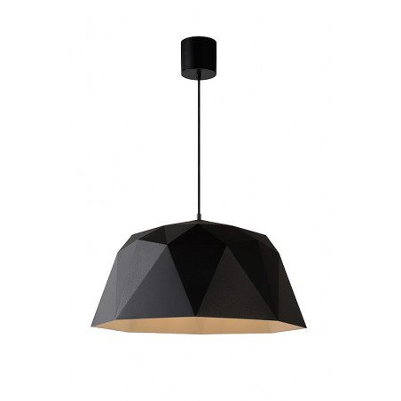 Suspension Geometry – Noir – Ø60 cm – Lucide