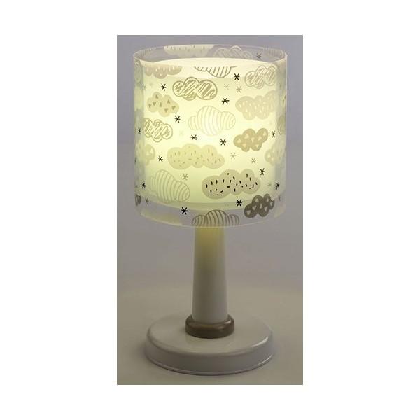 Lampe de chevet enfant Clouds – Vert – H30 cm – Dalber