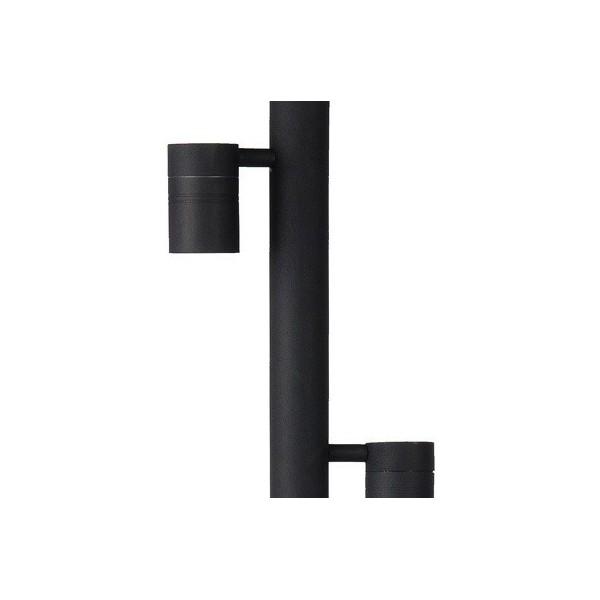 Borne extérieure ARNE LED - noir - H90cm - 2xGU10 - Lucide