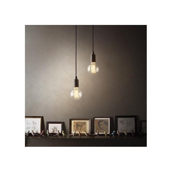 Suspension Edison – Noir – Métal – Ideal-Lux
