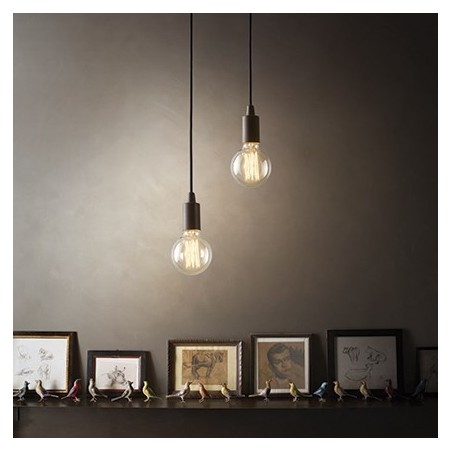 Suspension Edison – Noir – Métal – Ideal-Lux