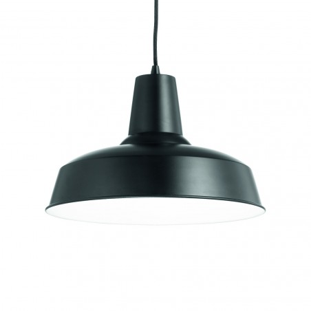Suspension Moby – Noir – Ø35 cm – Ideal-Lux