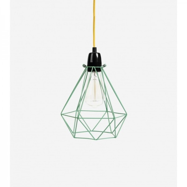 Lampe DIAMOND 1 - Mint Blue - filamentstyle