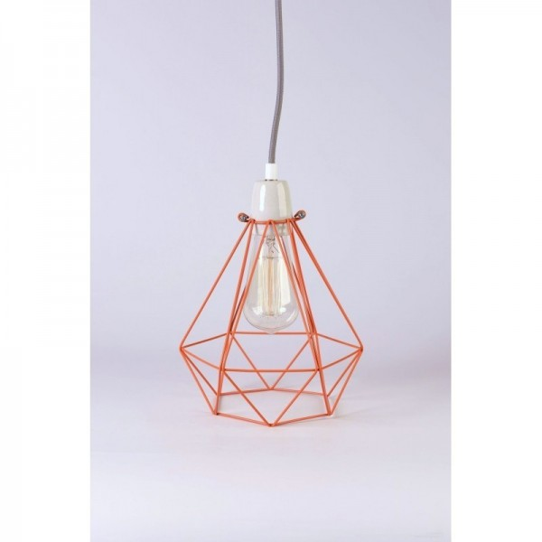 Lampe DIAMOND 1 - Orange - Filamentstyle